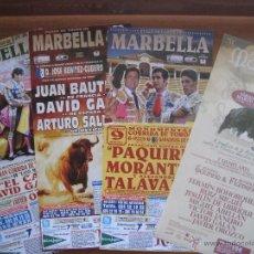 Carteles Toros: PLAZA TOROS MARBELLA (LOTE CARTELES DE CORRIDA DE TOROS)TEMPORADA 2015. Lote 54787372