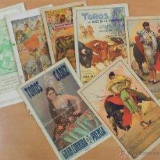 Carteles Toros: LOTE CARTELES DE TOROS ANTIGUOS 1926 A 1939. Lote 51549990