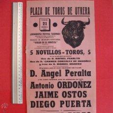 Carteles Toros: CARTEL DE LA PROGRAMACION - PLAZA DE TOROS DE UTRERA 1965. Lote 51595819