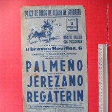 Carteles Toros: CARTEL DE LA PROGRAMACION - PLAZA DE TOROS DE ALCALA DE GUADAIRA 1962. Lote 51609384