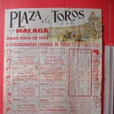 Carteles Toros: CARTEL DE LA PROGRAMACION - PLAZA DE TOROS DE MALAGA 1968. Lote 51615705