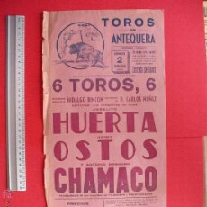 Carteles Toros: CARTEL PROGRAMACION - PLAZA DE TOROS DE ANTEQUERA 1957. Lote 51623187