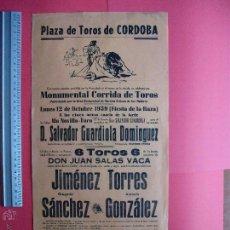 Carteles Toros: CARTEL PROGRAMACION - PLAZA DE TOROS DE CORDOBA 1959. Lote 51638671