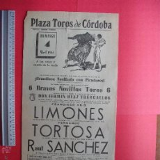 Carteles Toros: CARTEL PROGRAMACION - PLAZA DE TOROS DE CORDOBA 1965. Lote 51641653