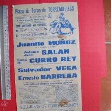 Carteles Toros: CARTEL PROGRAMACION - PLAZA DE TOROS DE TORREMOLINO1969. Lote 51649764