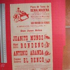 Carteles Toros: CARTEL PROGRAMACION - PLAZA DE TOROS DE BENALMADENA 1968. Lote 51650097