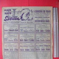 Carteles Toros: CARTEL PROGRAMACION - PLAZA DE TOROS DE SEVILLA 1965. Lote 51672278