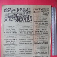 Carteles Toros: CARTEL PROGRAMACION - PLAZA DE TOROS DE SEVILLA 1966. Lote 51672948
