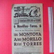 Carteles Toros: CARTEL PROGRAMACION - PLAZA DE TOROS DE SEVILLA 1968. Lote 51673146