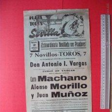 Carteles Toros: CARTEL PROGRAMACION - PLAZA DE TOROS DE SEVILLA 1969. Lote 51673897