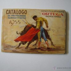 Carteles Toros: CATALOGO PROPAGANDA TAURINA 1955. Lote 51682393