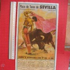 Carteles Toros: CARTEL PROGRAMACION - PLAZA DE TOROS DE SEVILLA 1968. Lote 51688169