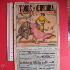 Carteles Toros: CARTEL PROGRAMACION - PLAZA DE TOROS DE CORDOBA 1957. Lote 51689148