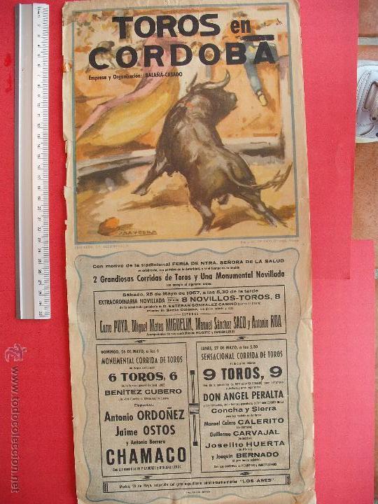 CARTEL PROGRAMACION - PLAZA DE TOROS DE CORDOBA 1957 (Coleccionismo - Carteles Gran Formato - Carteles Toros)