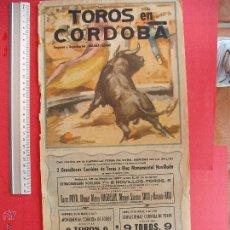 Carteles Toros: CARTEL PROGRAMACION - PLAZA DE TOROS DE CORDOBA 1957. Lote 51689872