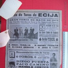 Carteles Toros: CARTEL PROGRAMACION - PLAZA DE TOROS DE ECIJA 1972. Lote 51694726