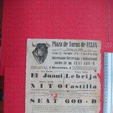 Carteles Toros: CARTEL PROGRAMACION - PLAZA DE TOROS DE ECIJA 1970. Lote 51704287