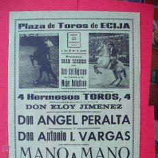 Carteles Toros: CARTEL PROGRAMACION - PLAZA DE TOROS DE ECIJA 1969. Lote 51706577
