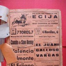 Affissi Tauromachia: CARTEL PROGRAMACION - PLAZA DE TOROS DE ECIJA 1969. Lote 51707069