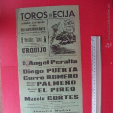 Carteles Toros: CARTEL PROGRAMACION - PLAZA DE TOROS DE ECIJA 1968. Lote 51714643