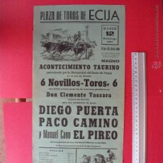 Carteles Toros: CARTEL PROGRAMACION - PLAZA DE TOROS DE ECIJA 1967. Lote 51714749