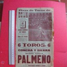 Carteles Toros: CARTEL PROGRAMACION - PLAZA DE TOROS DE ECIJA 1966. Lote 51717004