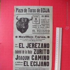 Carteles Toros: CARTEL PROGRAMACION - PLAZA DE TOROS DE ECIJA 1963. Lote 51729675