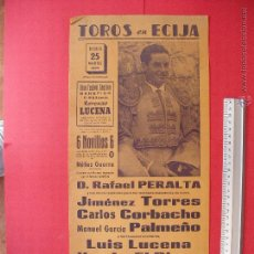 Carteles Toros: CARTEL PROGRAMACION - PLAZA DE TOROS DE ECIJA 1962. Lote 51730184