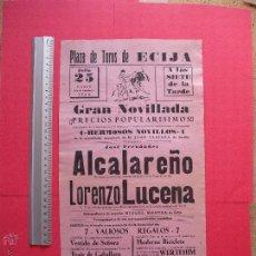 Carteles Toros: CARTEL PROGRAMACION - PLAZA DE TOROS DE ECIJA 1960. Lote 51763973
