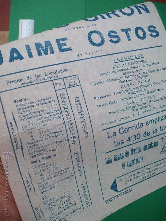 Carteles Toros: CARTEL TAURINO -PLAZA DE TOROS DE GRANADA - 1957 - Foto 2 - 52162174