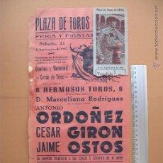 Carteles Toros: CARTEL PROGRAMACION - PLAZA DE TOROS DE ECIJA 1957. Lote 52307678