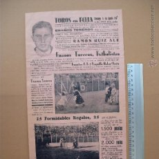 Carteles Toros: CARTEL PROGRAMACION - PLAZA DE TOROS DE ECIJA 1957. Lote 52308177