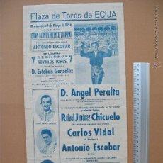 Carteles Toros: CARTEL PROGRAMACION - PLAZA DE TOROS DE ECIJA 1956. Lote 52313282
