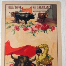 Carteles Toros: CARTEL TOROS , SALAMANCA , FERIA 1950 , J. REUS , ORIGINAL , A1. Lote 52325336