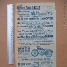 Carteles Toros: CARTEL PROGRAMACION - PLAZA DE TOROS DE ECIJA 1955. Lote 52370988