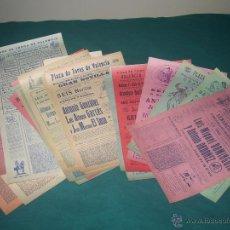 Carteles Toros: LOTE CARTELES PLAZA DE TOROS DE VALENCIA.. Lote 52447181