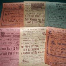 Carteles Toros: LOTE CARTELES PLAZA DE TOROS DE ONDARA.. Lote 52447277
