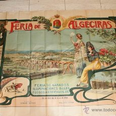 Carteles Toros: CARTEL DE TOROS MURAL DE ALGECIRAS. 1914. MORENITO DE ALGECIRAS, GALLO, GALLITO, LIMEÑO Y BELMONTE. . Lote 52584508