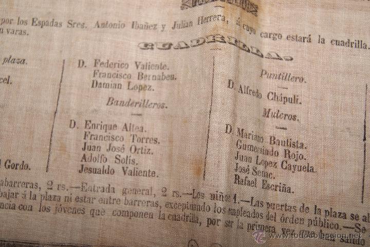 Carteles Toros: CARTEL DE TOROS DE MURCIA 1870 A BENEFICIO DE ALICANTE AFECTADOS DE FIEBRE AMARILLA - Foto 5 - 52649095