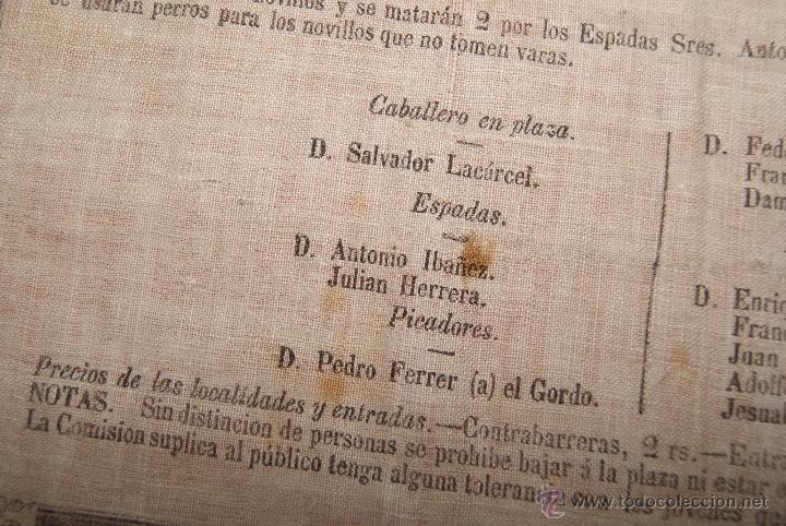Carteles Toros: CARTEL DE TOROS DE MURCIA 1870 A BENEFICIO DE ALICANTE AFECTADOS DE FIEBRE AMARILLA - Foto 6 - 52649095