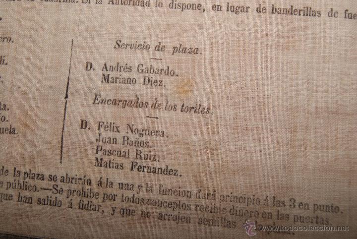 Carteles Toros: CARTEL DE TOROS DE MURCIA 1870 A BENEFICIO DE ALICANTE AFECTADOS DE FIEBRE AMARILLA - Foto 7 - 52649095