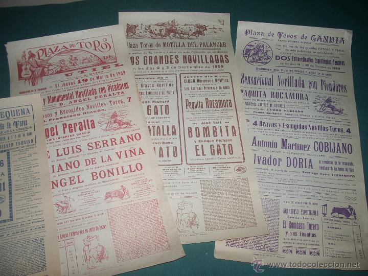 LOTE CARTELES TOROS: UTIEL, REQUENA,... (Coleccionismo - Carteles Gran Formato - Carteles Toros)