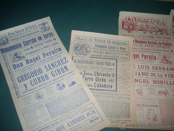Carteles Toros: Lote CARTELES TOROS: UTIEL, REQUENA,... - Foto 3 - 52747000