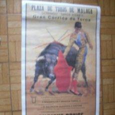 Carteles Toros: CARTEL DE TOROS DE ''MALAGA. Lote 52839669