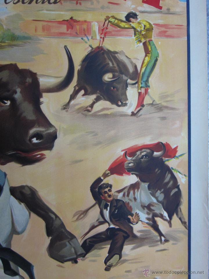 Carteles Toros: CARTEL TOROS - LLAPISERA - CANTINFLAS - ILUSTRADOR: DONAT - AÑOS 1950-60 - SIN IMPRIMIR - Foto 5 - 137430110