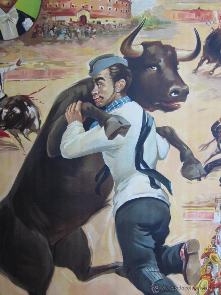 Carteles Toros: CARTEL TOROS - LLAPISERA - CANTINFLAS - ILUSTRADOR: DONAT - AÑOS 1950-60 - SIN IMPRIMIR - Foto 6 - 137430110