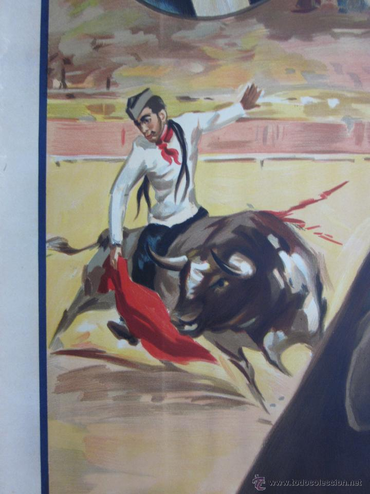 Carteles Toros: CARTEL TOROS - LLAPISERA - CANTINFLAS - ILUSTRADOR: DONAT - AÑOS 1950-60 - SIN IMPRIMIR - Foto 7 - 137430110