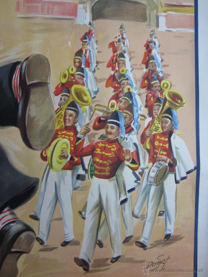 Carteles Toros: CARTEL TOROS - LLAPISERA - CANTINFLAS - ILUSTRADOR: DONAT - AÑOS 1950-60 - SIN IMPRIMIR - Foto 8 - 137430110