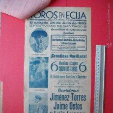 Carteles Toros: CARTEL -PLAZA DE TOROS DE ECIJA -1953 . Lote 52885857