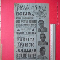 Carteles Toros: CARTEL -PLAZA DE TOROS DE ECIJA -1952 . Lote 52886616